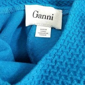 Ganni Tops - Ganni Peplum Top Size Medium Blue Ponte Tank Top